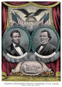 Abraham Lincoln and Andrew Johnson Election Banner 1864 von warishellstore