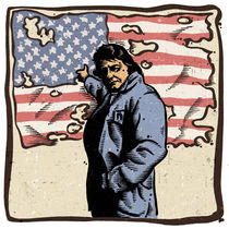Johnny Cash Ragged Old Flag by Mychael Gerstenberger