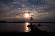 EVENING SUNSET OVER THE LAKE - Wandlitz von captainsilva
