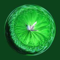 Fantasy glass Orb in Green von Robert Gipson