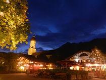 Abendstimmung am Mohrenplatz in Garmisch von laptoplederhose