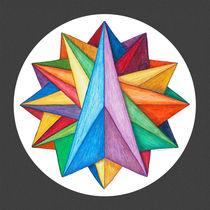 Crystalite Mandala - Print w/grey by themandalalady