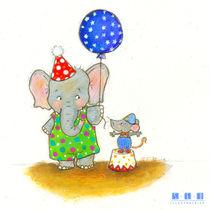 Gros éléphant et petite souris von sarah-emmanuelle-burg
