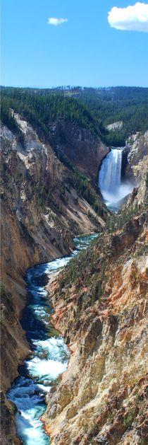 Waterfall - Yellowstone NP by usaexplorer
