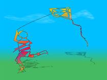 The Boy And The Kite von Ricardo de Almeida