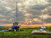Sunset on The Dee Estuary von Brian Tarr