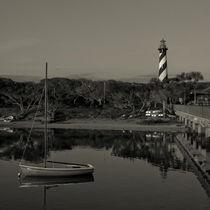 St. Augustine Lighthouse Beach Early Morning monochrome von shotwellphoto