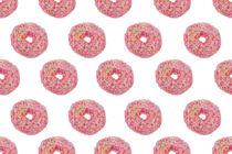 Pink Donut Pattern von kunertus