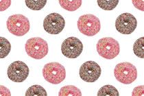 Pink Chocolate Donut Pattern  by kunertus