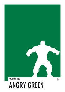 My Superhero 01 Angry Green Minimal Pantone poster von chungkong