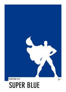 My Superhero 03 SuperBlue Minimal Pantone poster von chungkong
