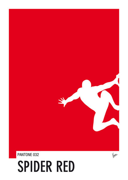 My-superhero-04-spider-red-minimal-pantone-poster