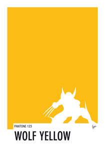 My-superhero-05-wolf-yellow-minimal-pantone-poster