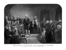 Washington Delivering His Inaugural Address by warishellstore