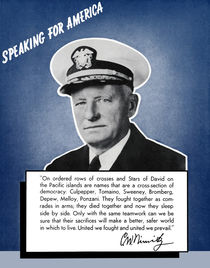 Admiral Nimitz -- Speaking For America von warishellstore
