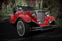 Doppelseite - 1952 MG TD von Erwin Lorenzen