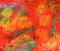 Orange Freen Painting  von Julia Fine Art