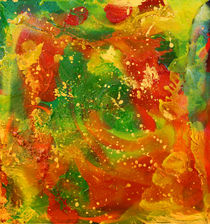 Abstract Spring Painting von Julia Fine Art