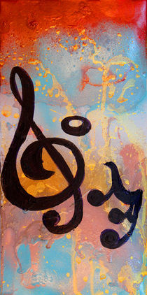 Music Diptych 1 by Julia Fine Art