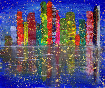 Abstract Landscape Cityscape  von Julia Fine Art