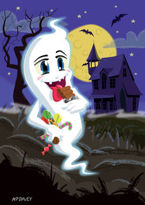 Manga Sweet Ghost at Halloween von Martin  Davey