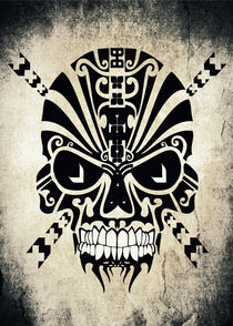 The Devil Inside - Cool Skull Vector Art von Denis Marsili