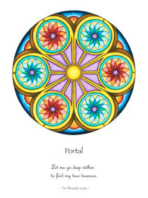 Portal Mandala Poster w/Message by themandalalady