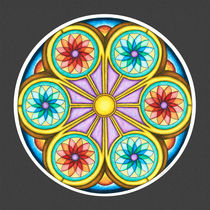 Portal Mandala Print w/grey background von themandalalady