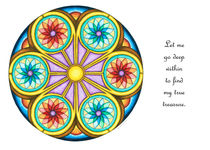 Portal Mandala Greeting Card w/Message by themandalalady
