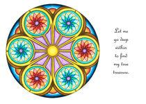 Portal Mandala Greeting Card w/Message von themandalalady