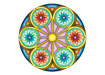 Portal Mandala Greeting Card by themandalalady