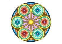 Portal Mandala Greeting Card von themandalalady