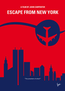 No219 My Escape from New York minimal movie poster by chungkong