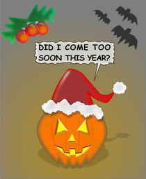 Halloween And Christmas Card von Ricardo de Almeida