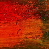 "Abstract painting ""Red Wind"" von rvhart"