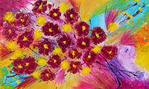 Abstract Flowers  von Julia Fine Art