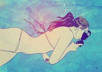 Swimming Girl von Giuseppe Cristiano