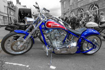 Colour pop Custom Harley by Christopher Kelly