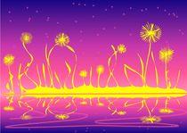 Alien Fire Flowers von Anastasiya Malakhova