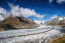 Der grosse Aletschgletscher in der Schweiz von Matthias Hauser