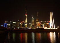 Skyline Shanghai bei Nacht, skyline of Shanghai at nihght  by Sabine Radtke