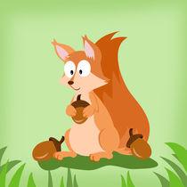 Waldtiere Serie Eichhörnchen by Michaela Heimlich