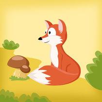 Waldtiere Serie Fuchs von Michaela Heimlich