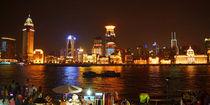 Shanghai, Bund bei Nacht, Shanghai, Bund at night von Sabine Radtke
