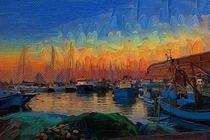 sunset in Jaffa's port  von Anat  Umansky