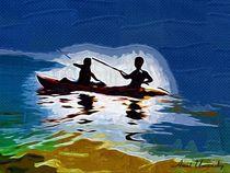 Kayaking in sea of Galillee by Anat  Umansky