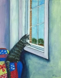 Cat By The Window by Anastasiya Malakhova
