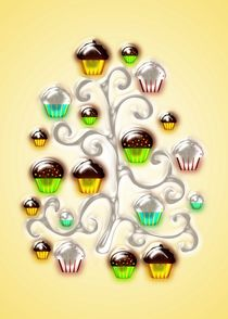 Cupcake Glass Tree by Anastasiya Malakhova