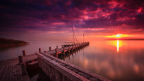 Sunset Lake Neusied II. by Zoltan Duray