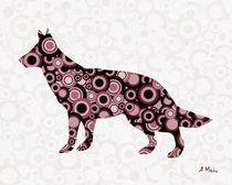 German Shepherd - Animal Art by Anastasiya Malakhova